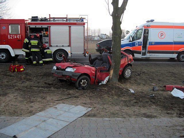 Jak doszło do wypadku w Rogowie? - Źródło: KP PSP w Turku / www.straz.turek.pl