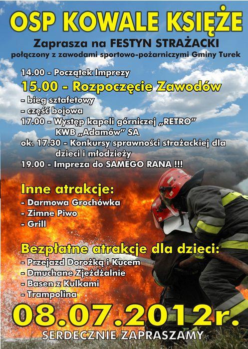 Gm. Turek: Festyn strażacki już w niedzielę - Źródło: UG Turek