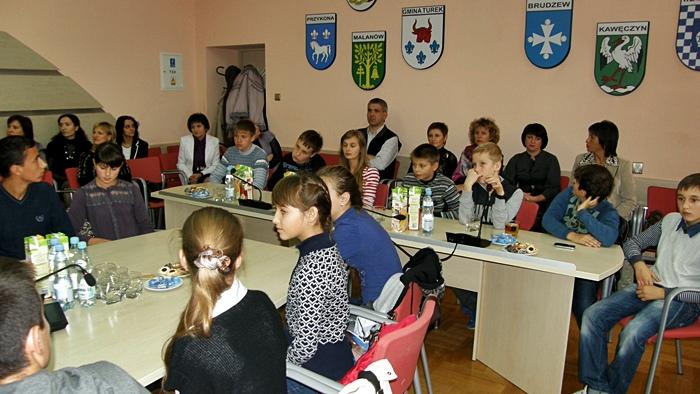 Młodzi Ukraińcy z wizytą przy Kaliskiej 59