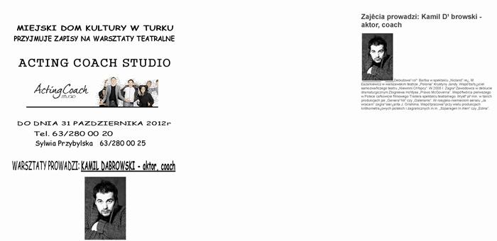 Sprawdź, czy drzemie w Tobie aktor - Źródło: MDK w Turku