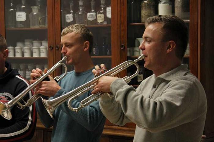 Warsztaty Big Bandowe Jazz Tur 2012  w Muzeum Rzemiosła Tkackiego