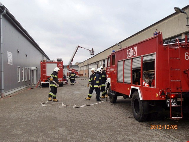 Eksplozja z Sinturze  - Foto: straz.turek.pl