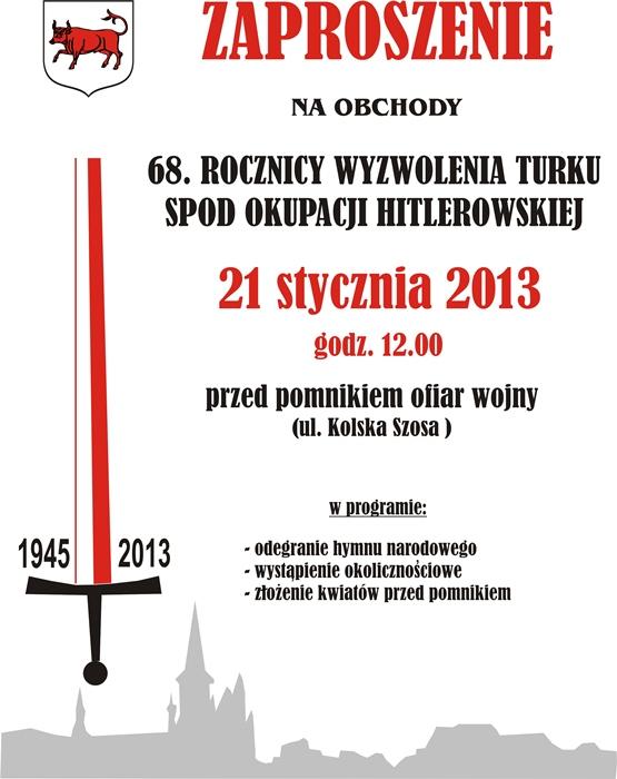 Uczczą wyzwolenie miasta - Źródło: www.miastoturek.pl