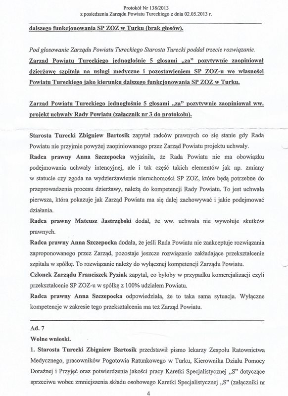 Starosta i wicestarosta skompromitowani/Zwycięstwo! Zarząd Powiatu kapituluje!!!