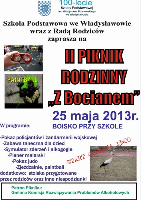"""II Piknik Rodzinny """"Z Bocianem"""" już w sobotę!"""