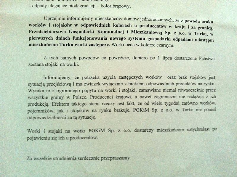 PGKiM ma problem z workami - Foto nadesłane przez Czytelnika