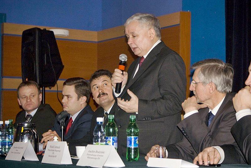 Kaczyński przyjedzie do Turku - Kaczyński podczas wizyty w Turku w styczniu 2010 r.