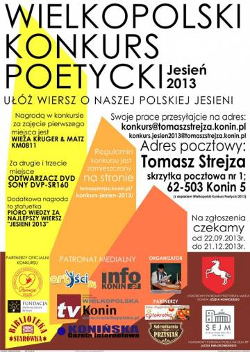 Piszesz wiersze? Weź udział w konkursie!