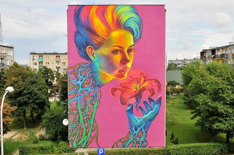 Mural promuje Turek w świecie