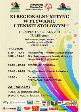 XI Regionalny Mityng w Pływaniu i Tenisie Stołowym