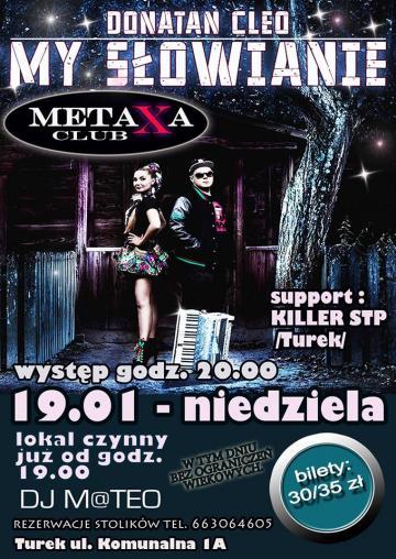 Club Metaxa: Donatan i Cleo pokażą swoją