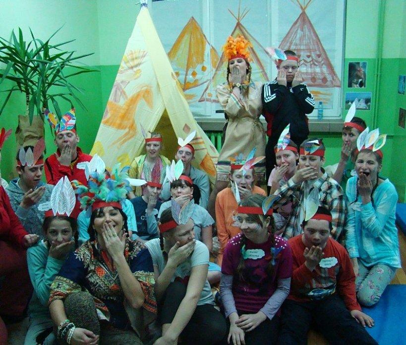 Noc Indian w SOSW, czyli sposób na dobrą zabawę - Foto: Specjalny Ośrodek Szkolno - Wychowawczy w Turku
