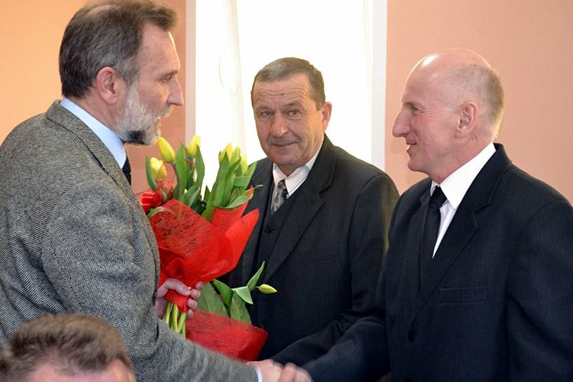 Sołtysi-rekordziści otrzymali kwiaty i gratulacje