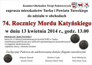 Oddajmy hołd pomordowanym w Katyniu - źródło: www.powiat.turek.pl