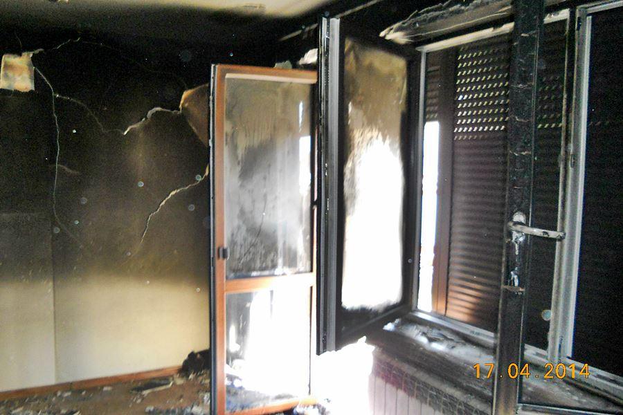 Pożar w Kunach: 12-latek w szpitalu - foto: materiał operacyjny PSP Turek