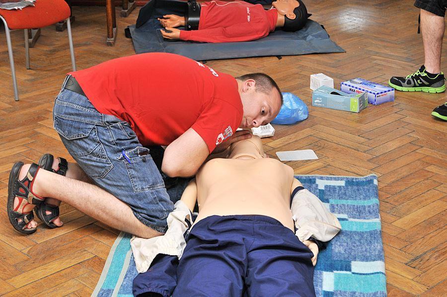 Uczyli się, jak ratować życie - foto: M. Derucki