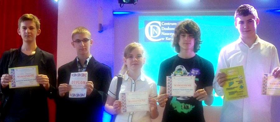 Sukcesy uczniów Gimnazjum nr 2 w Konkursie Matematycznym KANGUR