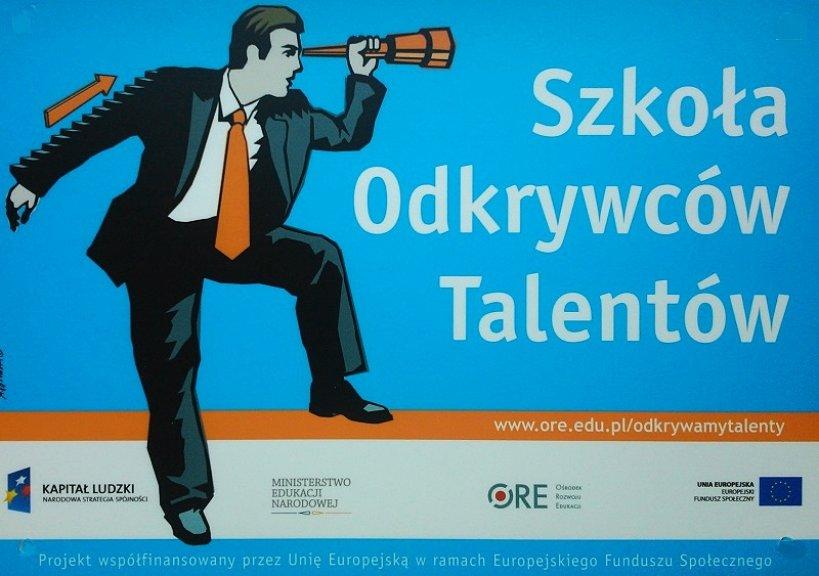 Jesteśmy Szkołą Odkrywców Talentów - Foto: Gimnazjum nr 1 w Turku