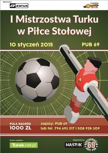 I Mistrzostwa Turku w Piłce Stołowej już w sobotę