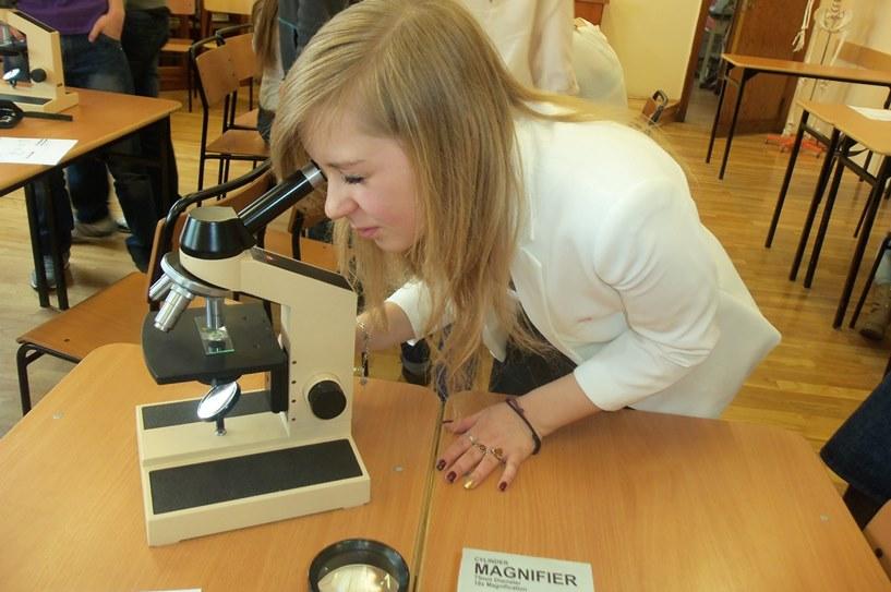 Lekcja biologii dla uczniów z Gimnazjum nr 2 w LO