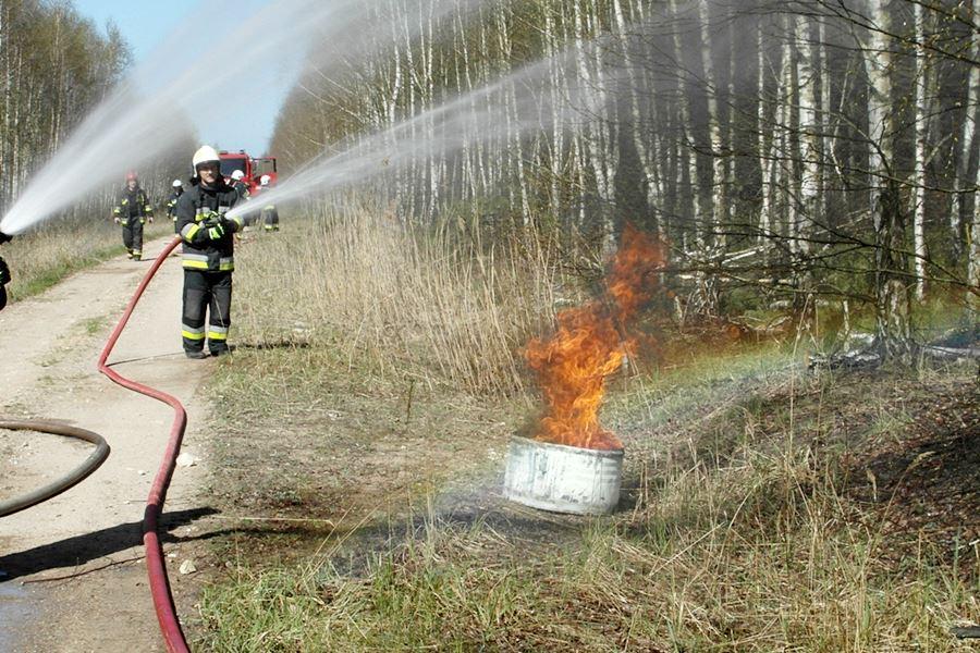 Ćwiczyli gaszenie lasu - foto: A.Walczak