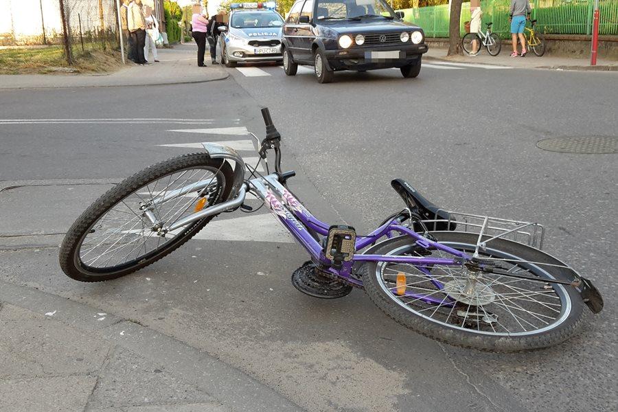 11-letnia rowerzystka ucierpiała na ul. Kączkowskiego - foto: nadesłane przez Czytelnika