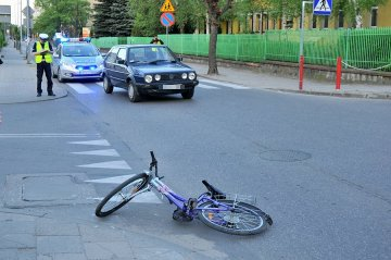 11-letnia rowerzystka ucierpiała na ul. Kączkowskiego