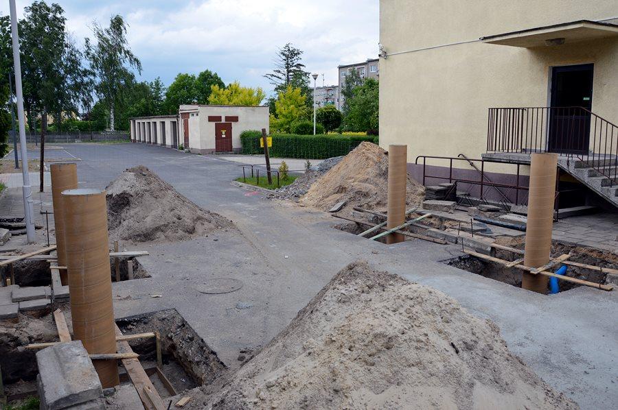 Budowa łącznika w Zespole Szkół Technicznych w Turku