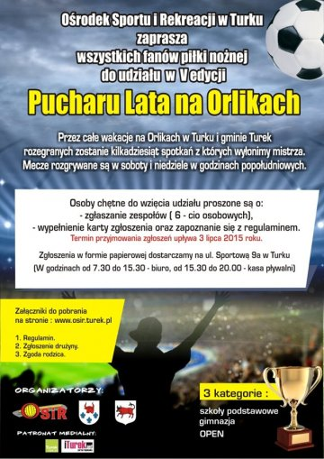Zagraj w V edycji Pucharu Lata na Orlikach