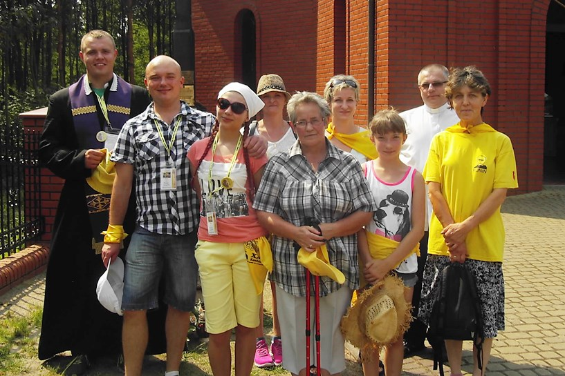 Parafia Wyszyna witała 25. Pieszą Pielgrzymkę z Konina