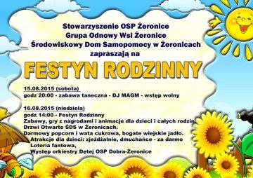 Na Festynie Rodzinnym w Żeronicach bawić się będą całe familie