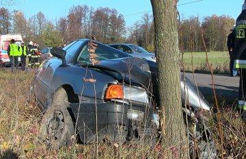 Wideo: Kto wjechał Audi w drzewo? 23-latek z...