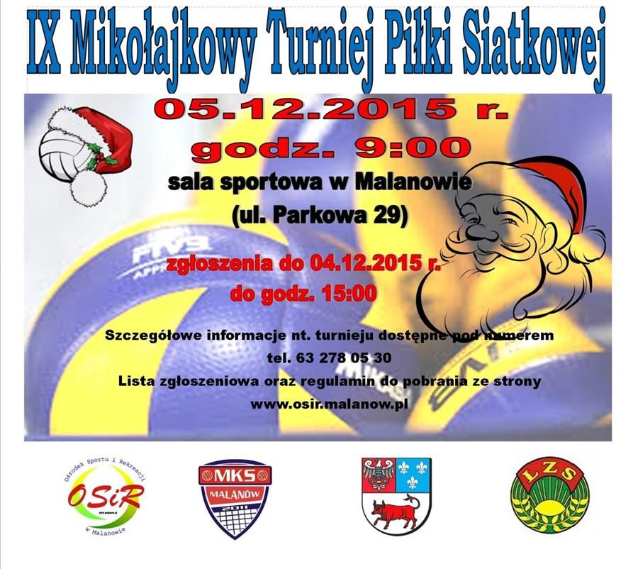 IX Mikołajkowy Turniej Piłki Siatkowej