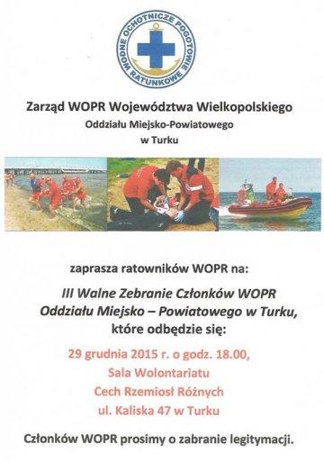 III Walne Zebranie Członków WOPR