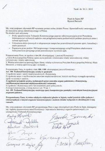Apel turkowian skierowany do posła Ryszarda Bartosika