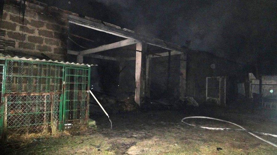 Pożar stodoły w noc sylwestrową - foto: OSP Tuliszków