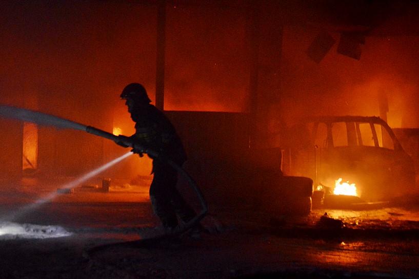 Kotwasice: Płonął zakład wulkanizacji
