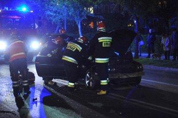 Zderzenie BMW i Audi na Uniejowskiej