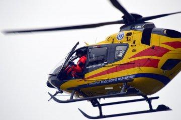 4-latek wypadł z 2 piętra. Śmigłowiec zabrał go do szpitala