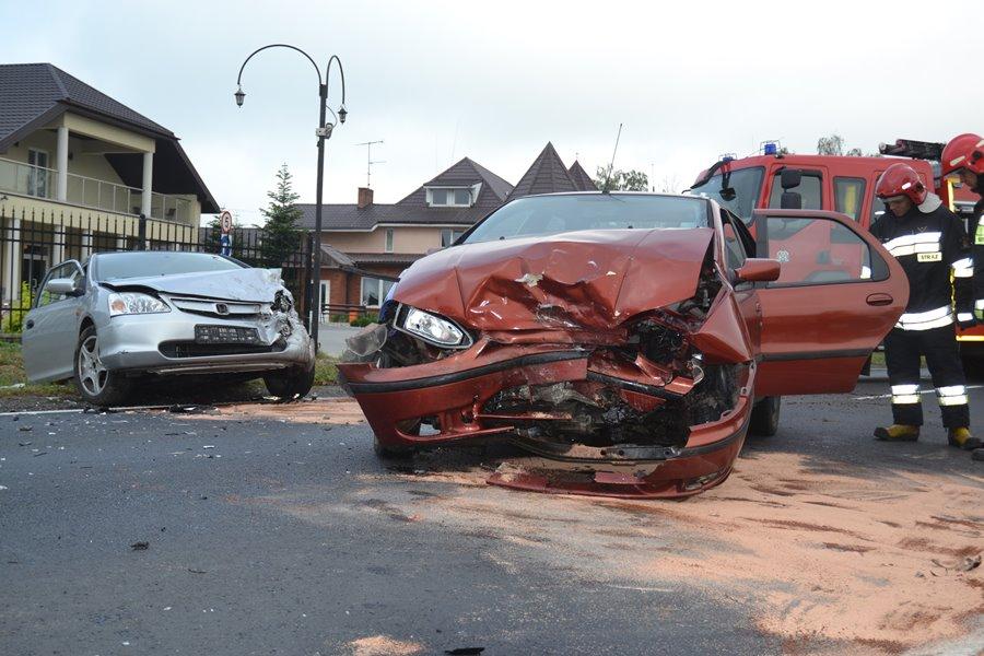Wypadek drogowy w Olszówce