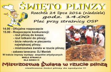 Rzechta: Kolejne Święto Plinzy ucztą dla łasuchów