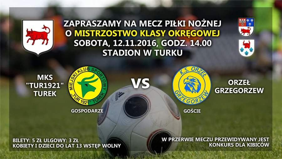 MKS Tur 1921 Turek vs Orzeł Grzegorzew