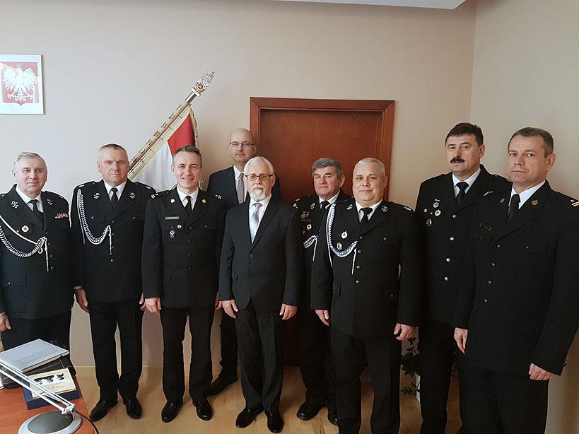 Druhowie u Komendanta Wojewódzkiego PSP
