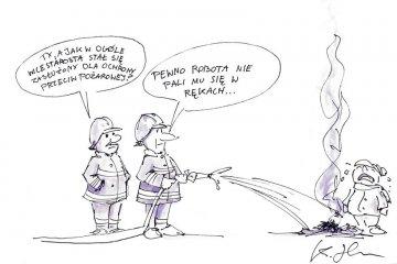 Komentarz satyryczny: Wzorowy strażak ze starostwa