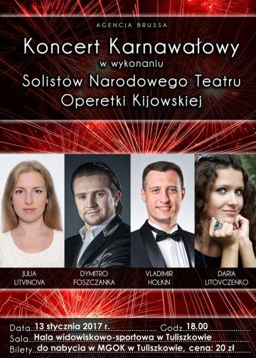 Tuliszków: Koncert Karnawałowy, jakiego nie było. Artyści z Kijowa zamienią halę w operetkę