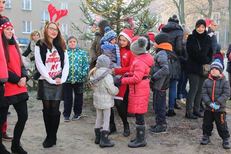 Śpiew kolęd, konkursy i wspólne ubieranie choinki na Matejki - Foto: Piotr Podembski