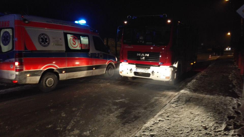 Władysławów: Gasili pożar kotłowni - foto: OSP Władysławów na Facebook.com