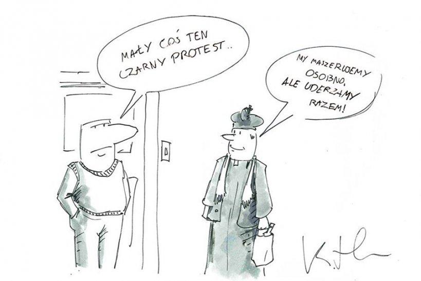 Komentarz satyryczny: Czarny Protest dotrze do każdego osobiście