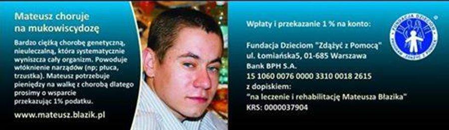 1% dla Turku: Mateusz potrzebuje pomocy