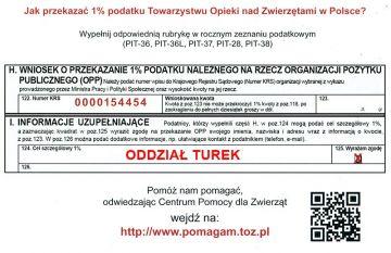 1% dla Turku: Pomóż TOZ-owi ratować zwierzęta
